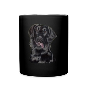 flatcoated retriever p - Ensfarvet krus