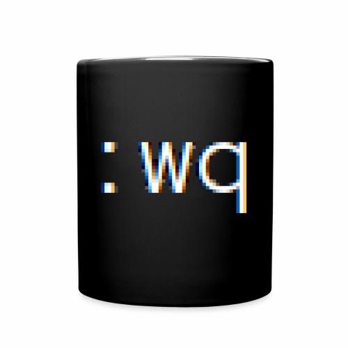 :wq - Speichern und VI beenden - Tasse einfarbig
