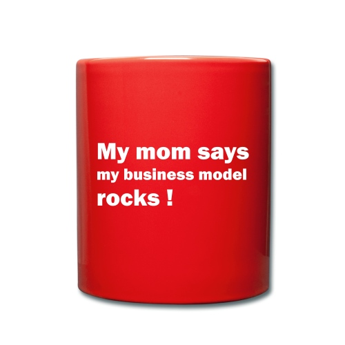 mom weiss - Tasse einfarbig