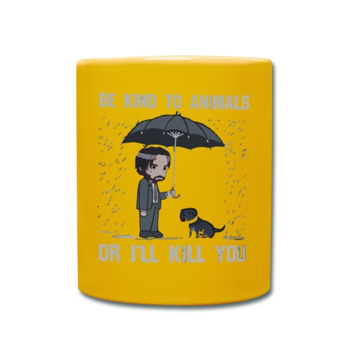 Be kind to animals or I'll kill you halloween - Full Colour Mug