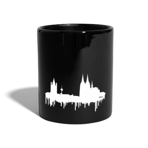 Skyline Köln - Weiß - Tasse einfarbig