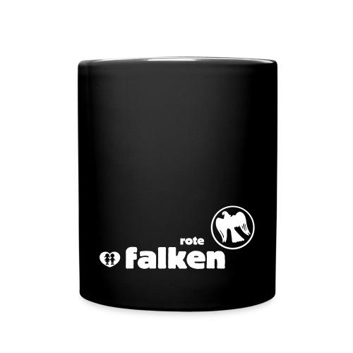 RF Logo Schriftzug schwarz - Tasse einfarbig