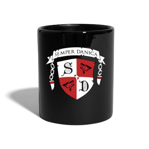 SD logo - hvide lænker - Ensfarvet krus
