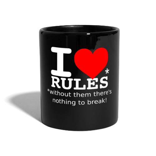 I love rules white - Full Colour Mug