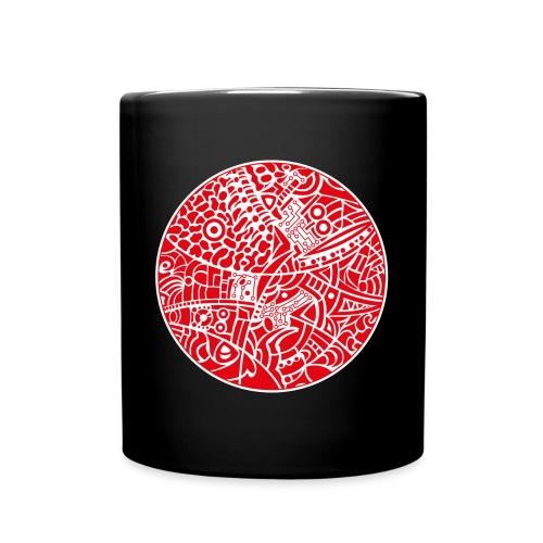 GlobeDesign-red - Ensfarvet krus