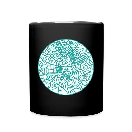 GlobeDesign-Green&W - Ensfarvet krus