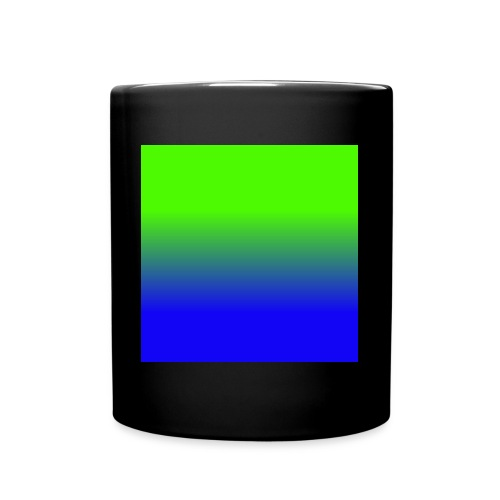 Linear pattern of green and blue - Full Colour Mug
