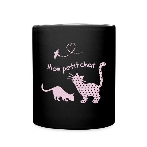 Petit chat, Katze, Herz - Tasse einfarbig