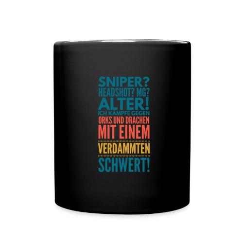 Sniper Headshot Alter Orks Und Drachen Geschenk - Tasse einfarbig