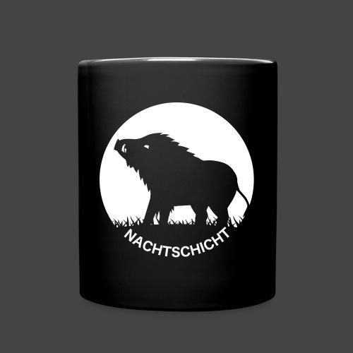 """""""Nachtschicht bei Schweinesonne""""-Shirt für Jäger - Tasse einfarbig"""