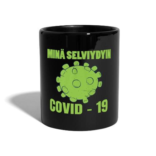 Minä selviydyin - COVID-19 - Yksivärinen muki