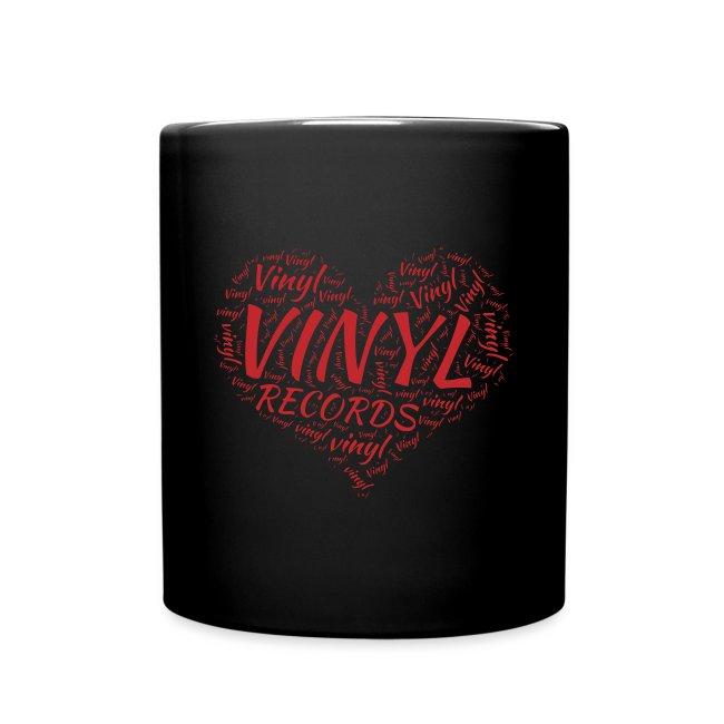 I Love Vinyl Records Heart