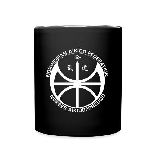 Hvit NAF logo - Ensfarget kopp