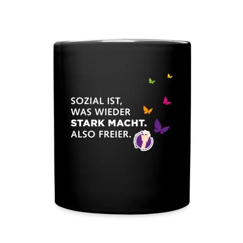 Sozial ist, was wieder stark macht - Tasse einfarbig