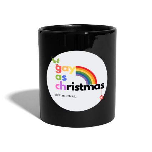 Gay as Christmas but Minimal Circle with Rainbow - Full Colour Mug