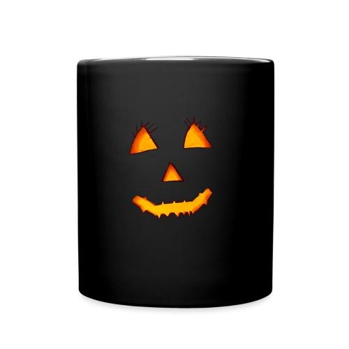 HALLOWEEN Gruselig lächelndes Kürbis Gesicht. - Tasse einfarbig