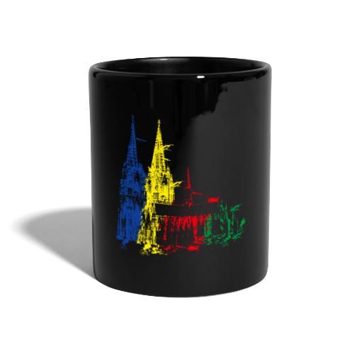 Kölner Dom, Farbexplosion - Tasse einfarbig