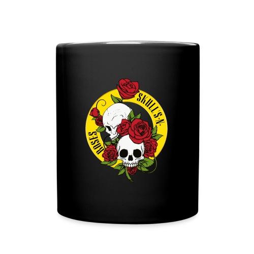 SKULL'S N ROSES - Taza de un color