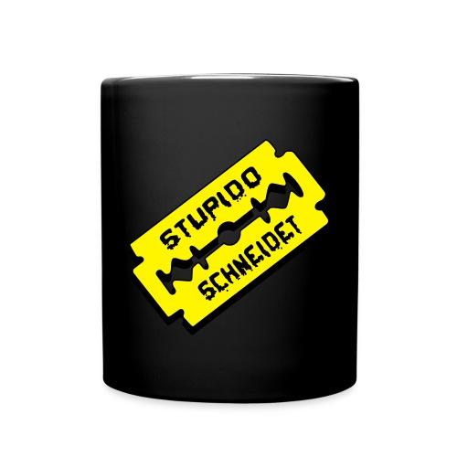 Stupido schneidet Logo - Tasse einfarbig
