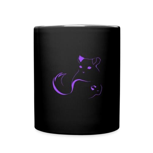 logo erittain iso violettina 1 png - Yksivärinen muki