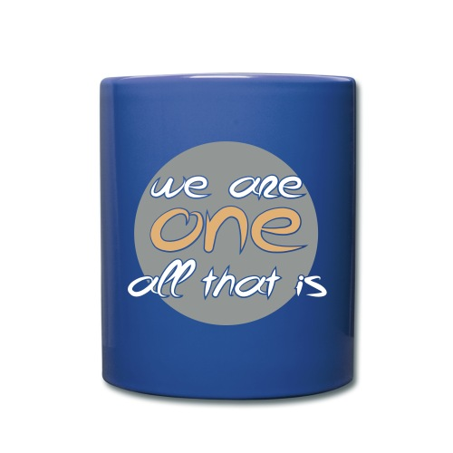 We are all ONE - Ensfarvet krus