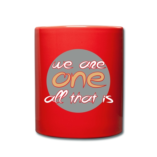 We are all ONE - Ensfarvet krus