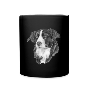 border collie S - Ensfarvet krus