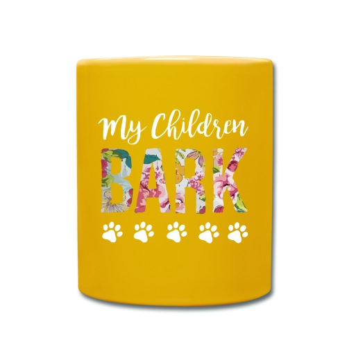 My children bark dog shirt - Full Colour Mug