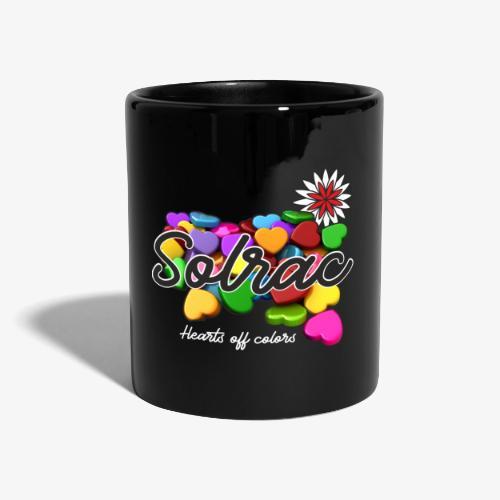 SOLRAC Hearts black - Taza de un color