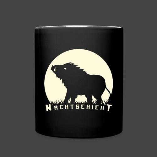 Nachtschicht bei Schweinesonne - Jägershirt - Tasse einfarbig