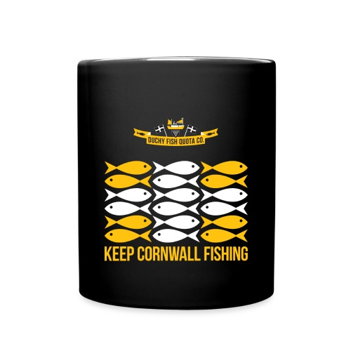 DFQC KCF Flag - Black - Full Colour Mug