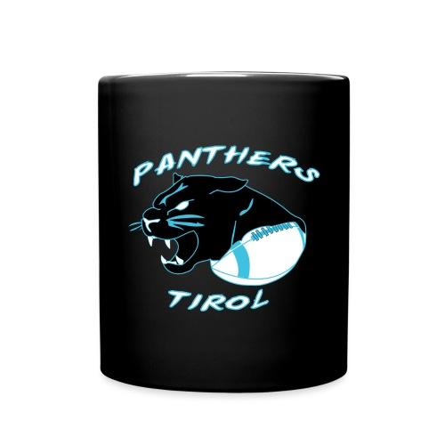 Panthers Logo 2014 Schriftzug Dark png - Tasse einfarbig