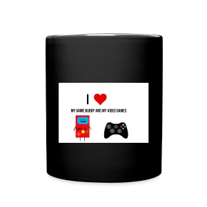 i love my game buddy and my video games - Full Colour Mug