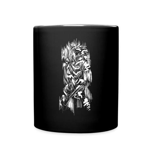 Samurai / White - Abstract Tatoo - Full Colour Mug