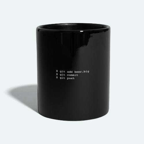 Bier Git Befehle Geschenk für Informatiker - Tasse einfarbig