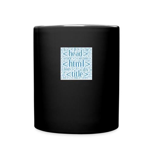 htmlwordcloud - Tasse einfarbig
