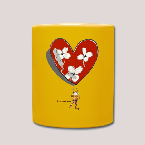 little girl with heart - Tazza monocolore