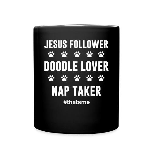 Jesus follower doodle lover nap taker - Full Colour Mug