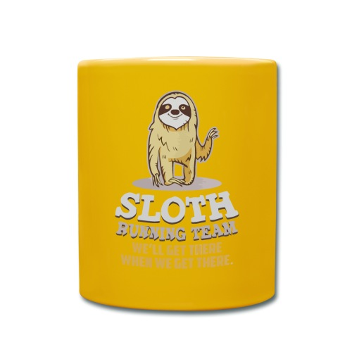 Sloth running team - Full Colour Mug