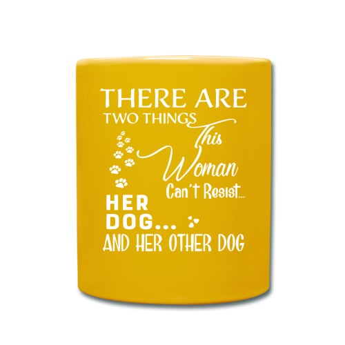 Her dog and her other dog shirt - Full Colour Mug