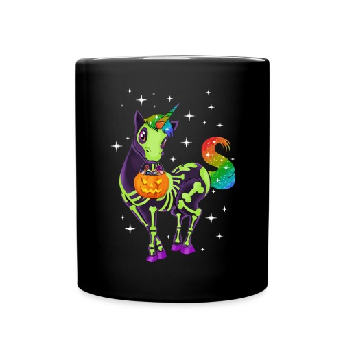 Unicorn pumpkin hallowen - Full Colour Mug