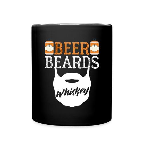 Beer Beards Whiskey - Tasse einfarbig