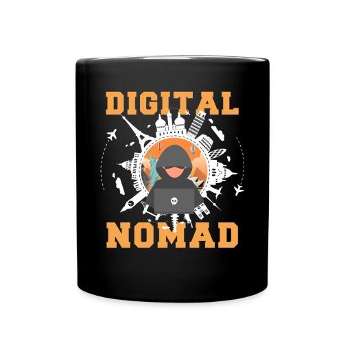Digital Nomad - Tasse einfarbig