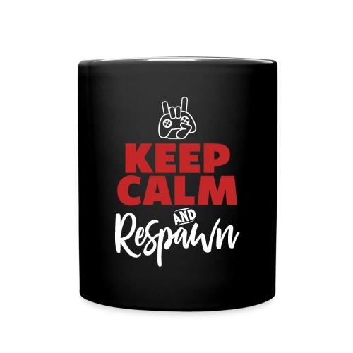Keep Calm Respawn   Video Game Gamer T-Shirt - Tasse einfarbig