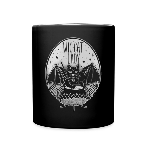 Wic-cat lady halloween shirt - Full Colour Mug