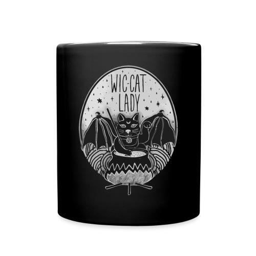 Wic-cat lady halloween shirt - Full Colour Mug