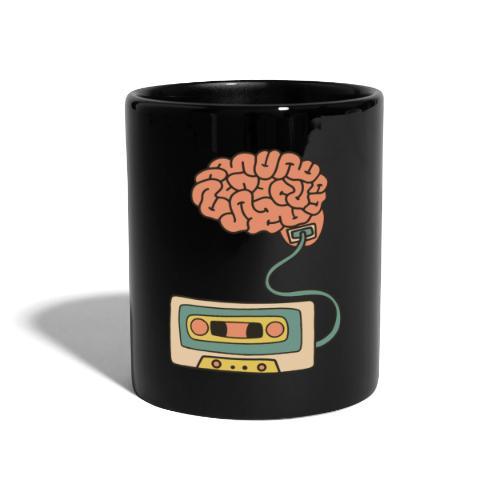 Musikkassette am Gehirn - Tasse einfarbig