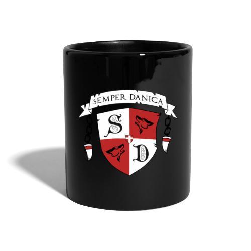 SD logo - sorte lænker - Ensfarvet krus