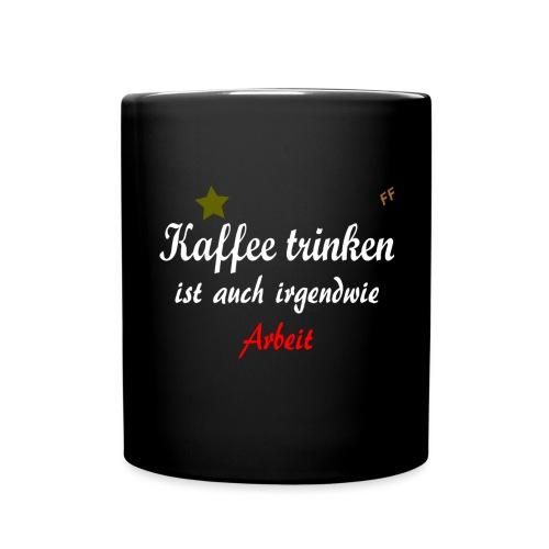 Kaffee trinken2 - Tasse einfarbig
