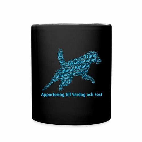 Apportering till vardag och fest wordcloud blått - Enfärgad mugg